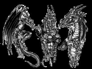 3D Dragon Tattoo Design PNG PNG Clip art