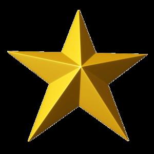 3D Gold Star PNG Clipart PNG Clip art