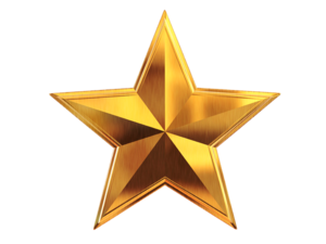 3D Gold Star PNG File PNG Clip art