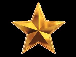 3D Gold Star PNG File PNG Clip art