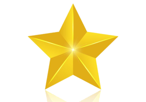 3D Gold Star PNG Image PNG Clip art