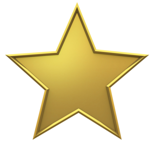 3D Gold Star PNG Photos PNG clipart
