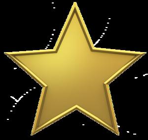 3D Gold Star PNG Photos PNG Clip art