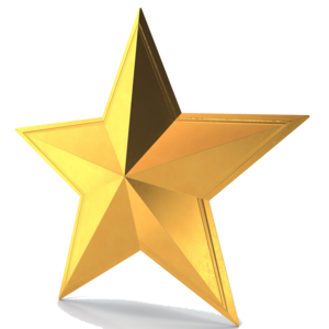 3D Gold Star PNG Pic PNG Clip art