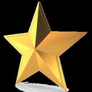 3D Gold Star PNG Pic PNG Clip art