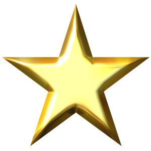 3D Gold Star PNG Picture PNG Clip art