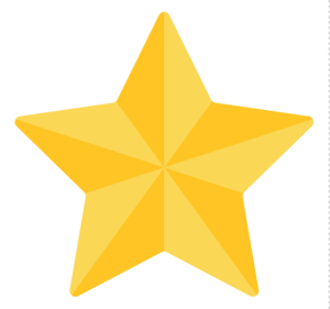 3D Gold Star Transparent Background PNG Clip art