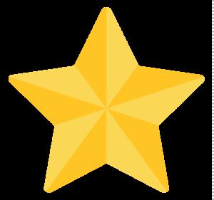 3D Gold Star Transparent Background PNG Clip art
