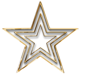 3D Gold Star Transparent PNG PNG Clip art