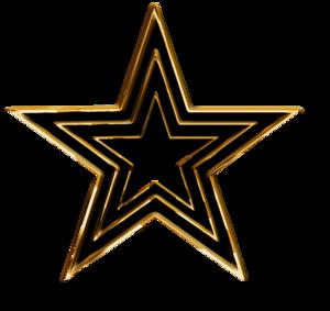 3D Gold Star Transparent PNG PNG Clip art