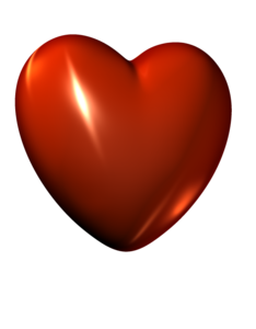 3D Red Heart PNG File PNG Clip art