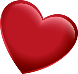 3D Red Heart PNG Pic PNG Clip art