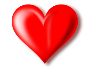 3D Red Heart Transparent Background PNG Clip art
