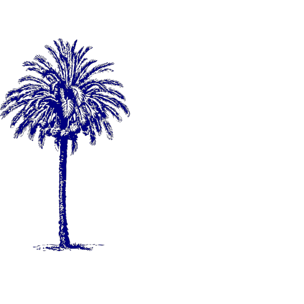 Navy Blue Palm PNG Clip art