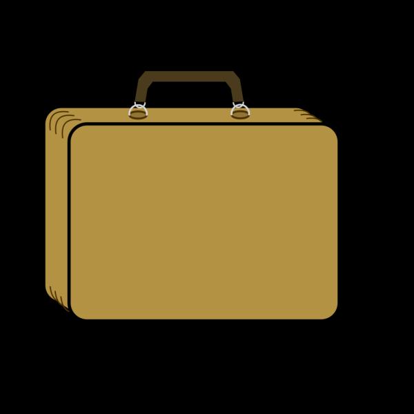 Little Tan Suitcase PNG Clip art