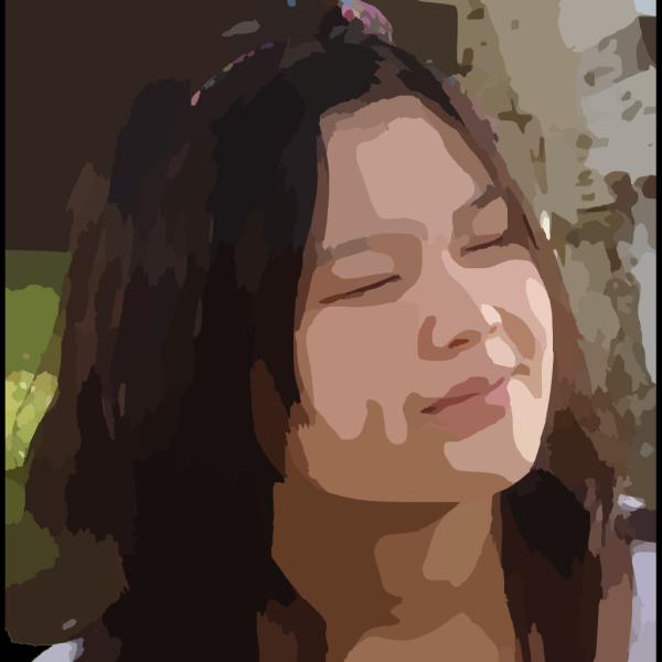 Paulliu Girl With Silver Hair PNG Clip art