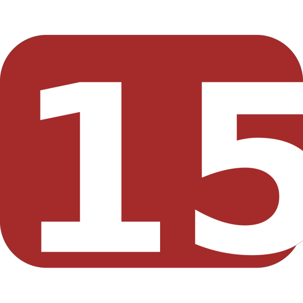 Brown Rounded Rectangle With Number 15 PNG Clip art