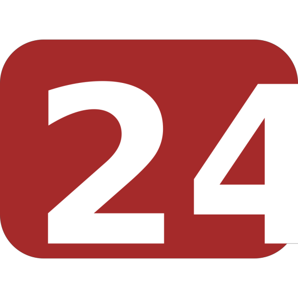 Brown Rounded Rectangle With Number 24 PNG Clip art