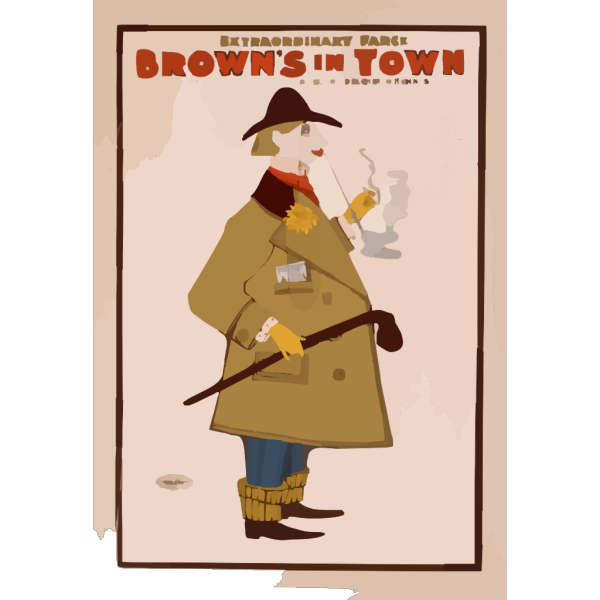 The Extraordinary Farce, Brown S In Town PNG Clip art