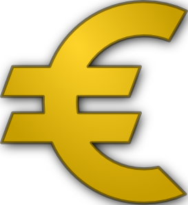 Bank Building With Euro Sign PNG Clip art