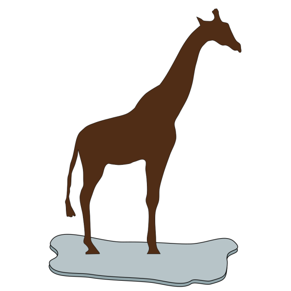 Giraffe On Ice Brown PNG clipart