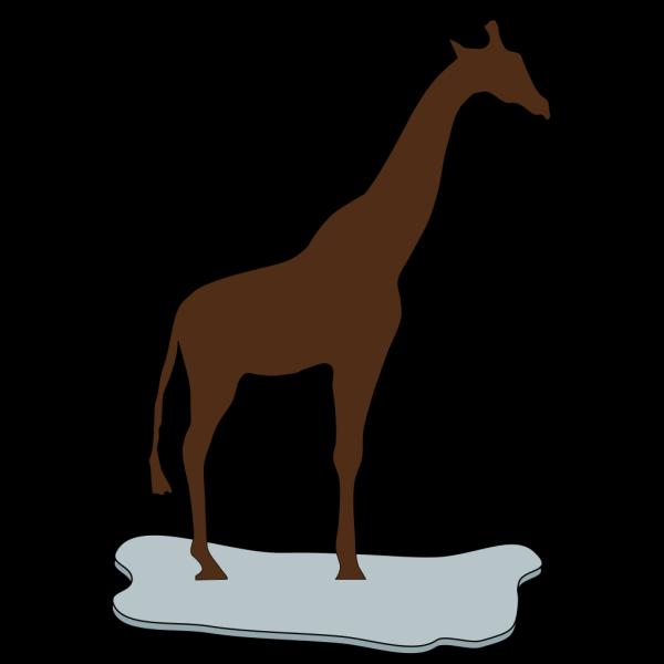Giraffe On Ice Brown PNG Clip art
