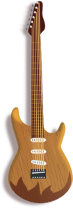 Wood Guitar PNG clipart