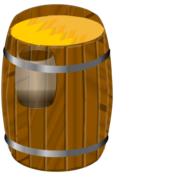 Wooden Barrel PNG Clip art