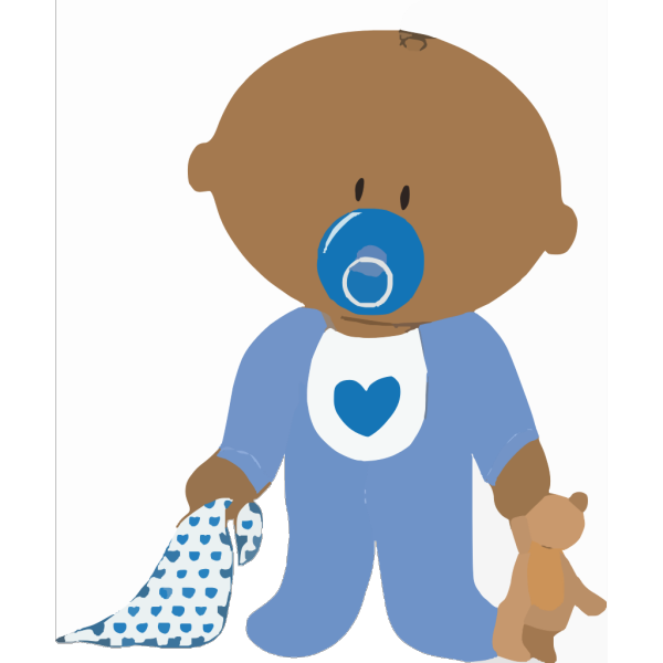 Baby Boy With Teddy PNG Clip art
