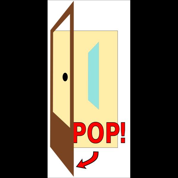 Sign Pop The Door PNG Clip art