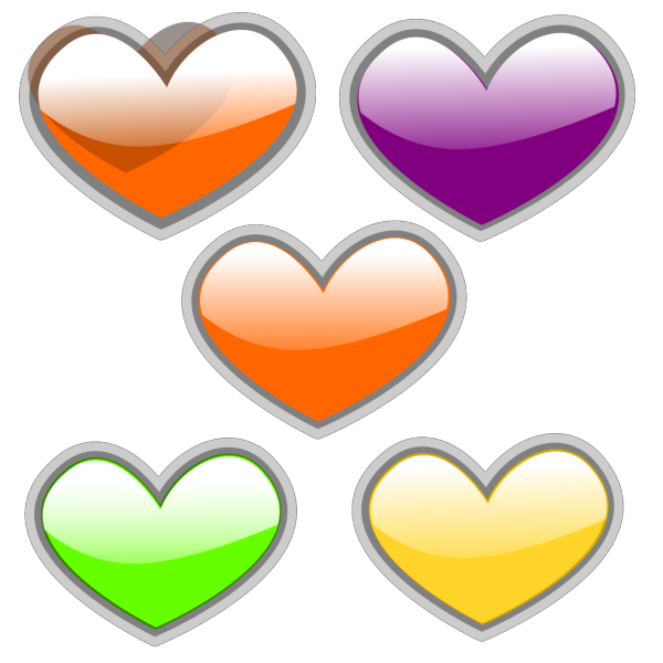 Glossy Heart 2 PNG Clip art