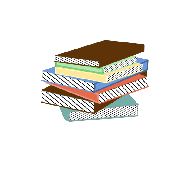 Stacked Books PNG Clip art