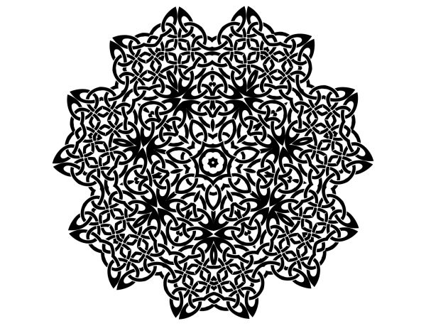 Brown Celtic Vine PNG Clip art