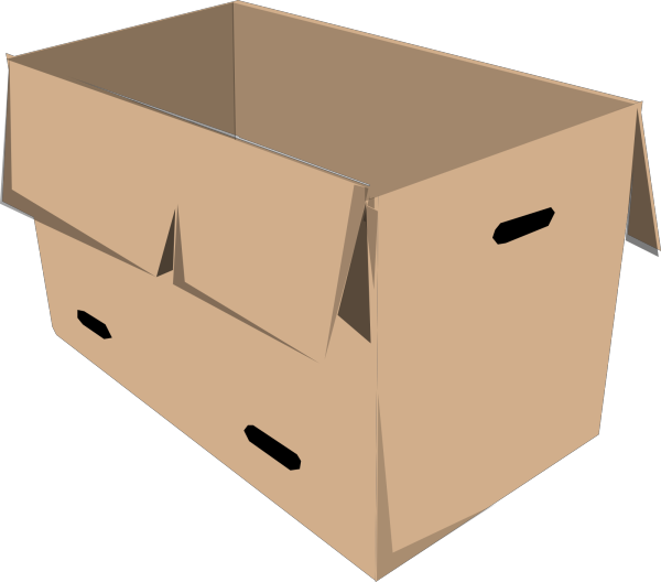 Brown Box PNG Clip art