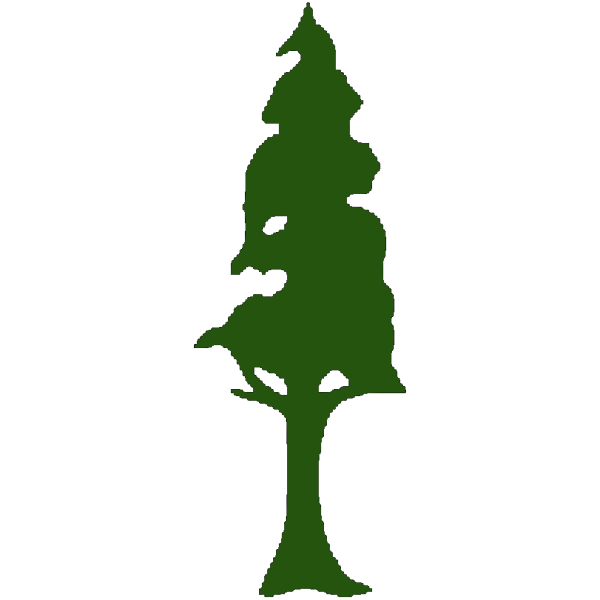 Redwood Tree Brown Green PNG Clip art