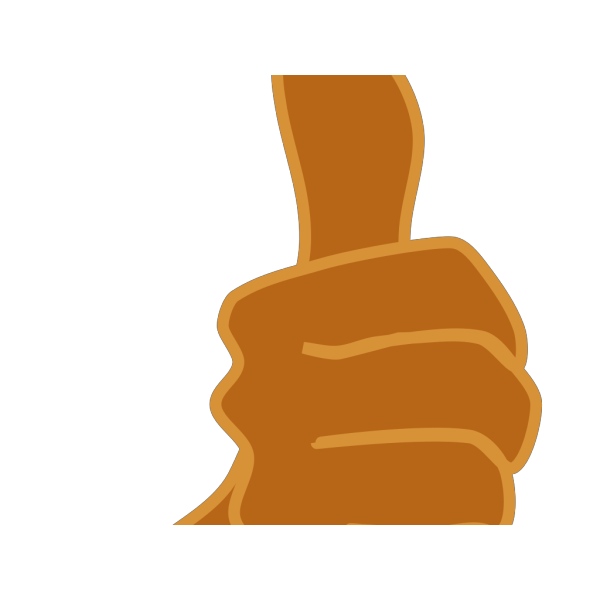 Thumbs Up Brown PNG Clip art