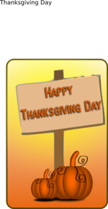 Happy Thanksgiving Day Sign PNG Clip art