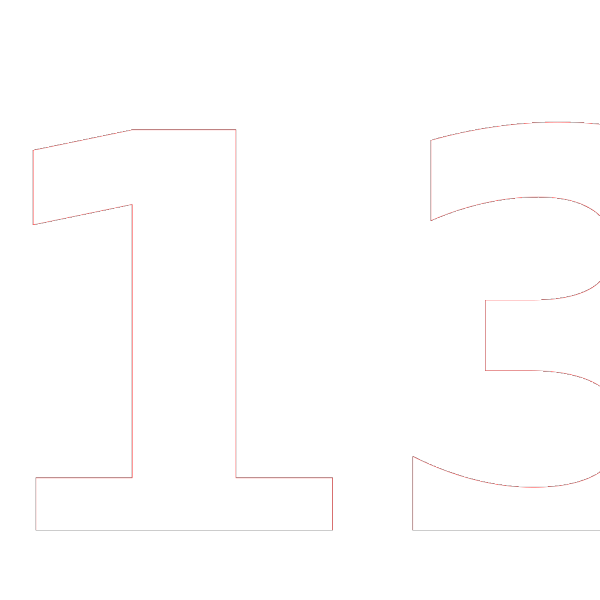 Blue Rounded Rectangle With Number 13 PNG images