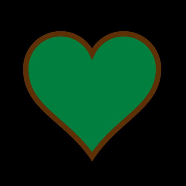 Brown Green Heart PNG Clip art
