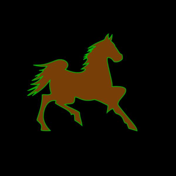 Fire Horse Green PNG Clip art
