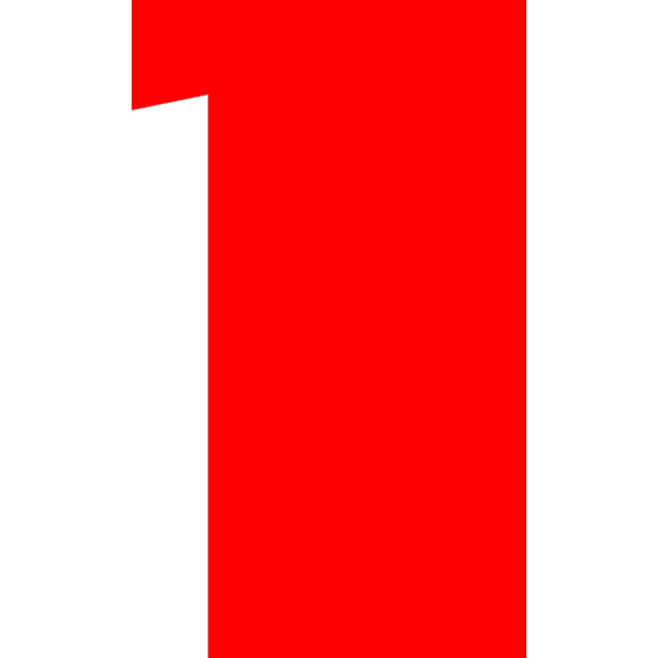 Blue Rounded Rectangle With Number 16