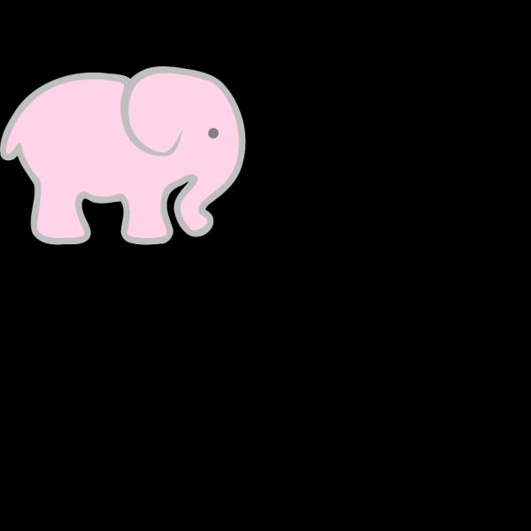 Pink Elephant PNG Clip art