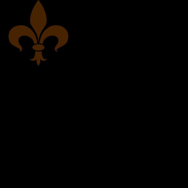 Brown Fleur De Lis PNG clipart