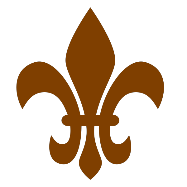 Brown Fleur De Lis PNG Clip art