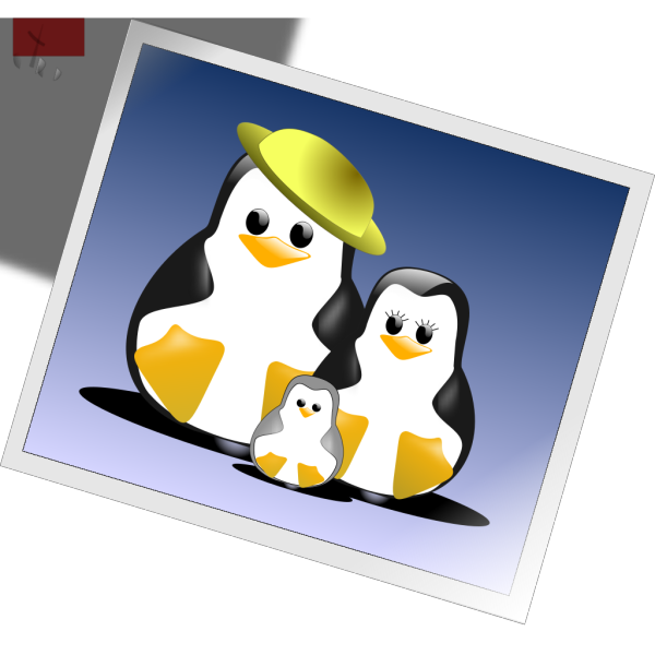 Happy Penguins Family Photo PNG icon