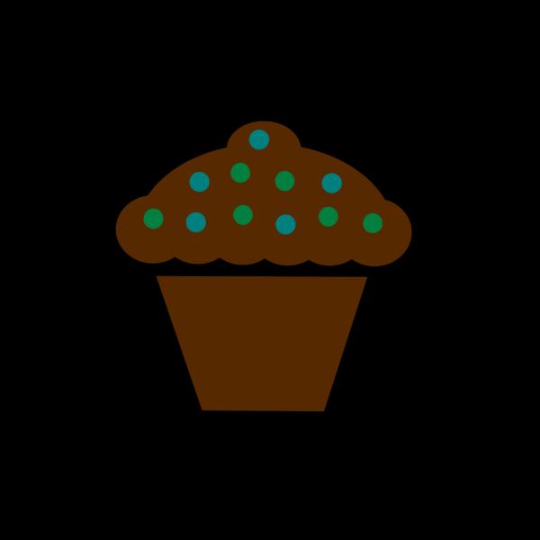 Polka Dot Cupcake PNG Clip art