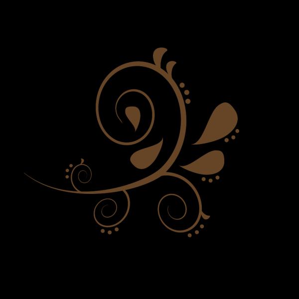 Brown Paisley Swash PNG Clip art