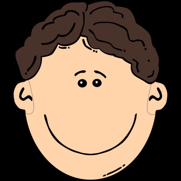 Smiling Brown Hair Man PNG Clip art