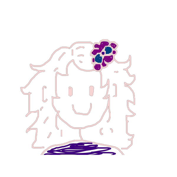 Girl Brown Hair PNG Clip art