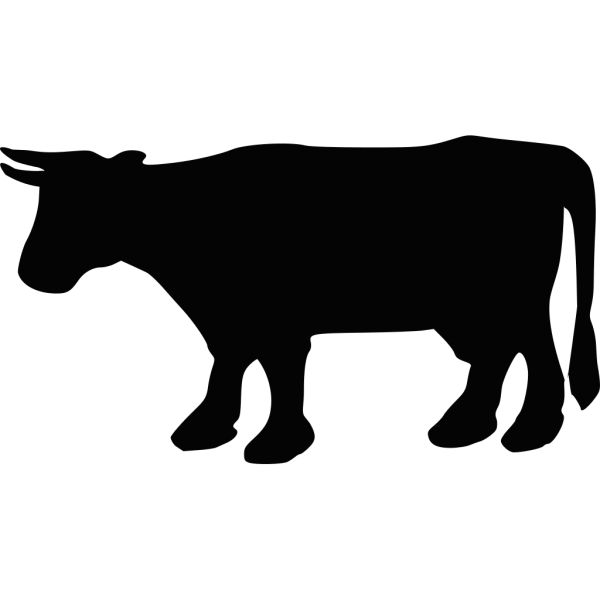 Cow Silhouette 1 PNG Clip art